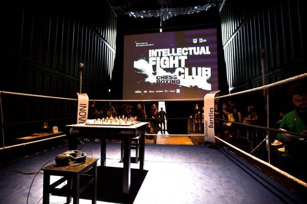 Ready, set, MATCH! The first Intellectual Fight Club at PLATOON May 9th, 2015 - Photo Credit: Danilo Rasori