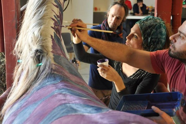 Dar's Horse Whispers series saw him paint the body of an Arabic stallion 12 times. The subsequent photos were exhibited in 2015. Photo: Courtesy of the artist.
