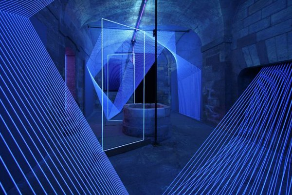 Drawing in Space - Reflection, which just closed at La Chartreuse de Villeneuve lez Avignon, is a good example of the visualization of the digital overlapping with the physical. Photo: Courtesy of the artist.