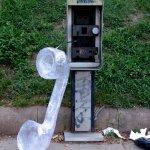 Washington DC. Broken Phone.