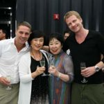 ms. seo & ms. kim with tom & christoph who came to gwangju from seoul for this special occasion