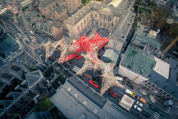 The Passenger, seen from above in Mons, Belgium, suffered a partial collapse this past December, but remains on display until 2019. Photo: Icarus Project