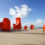 Rock Strangers in Ostend, Belgium (2012)—signify isolation in human relations, as well as architectural environment. Photos: Courtesy of the artist