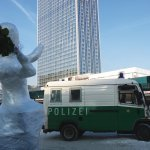 Hoping for Revolution in Berlin's Alexanderplatz. Photo: Courtesy of the artists