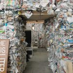 2010's House of Contamination in Turin was conceived of as a prototype of a contemporary cultural center with compressed trash materials for walls. Photo: Courtesy of the artists