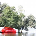 """DER RETTUNGSRING (""""The Lifebuoy"""") sat on Berlin's Spree River in July, 2010. Photo: Marco Canevacci"""