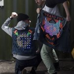 Trafopop with their LED jackets © Peter Lorenz