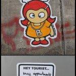 Tiny cartoon Tina Berlinas can be found all over Berlin. Photo: Courtesy of the artist