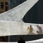 The Tape installation in Melbourne in 2011 features accessible translucent passageways. Photo: Numen
