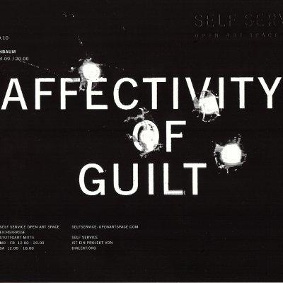 AFFECTIVITY OF GUILT VERNISSAGE