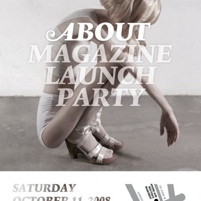 LAUNCH-PARTY of the latest PLATOON project:  ABOUT magazine