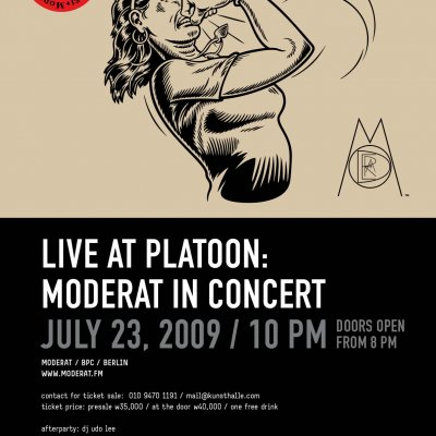 LIVE @ PLATOON KUNSTHALLE: MODERAT IN CONCERT